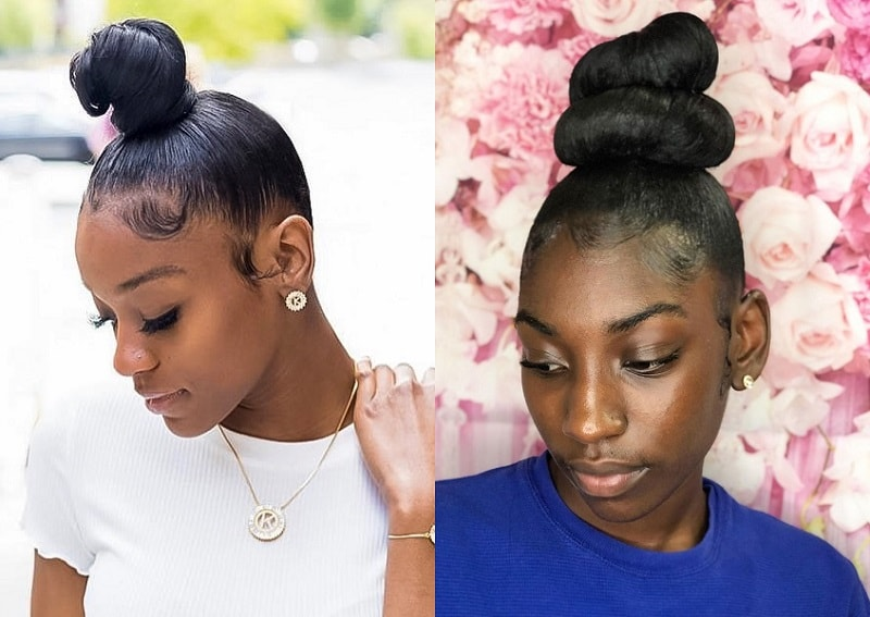 Top Knot with Weave