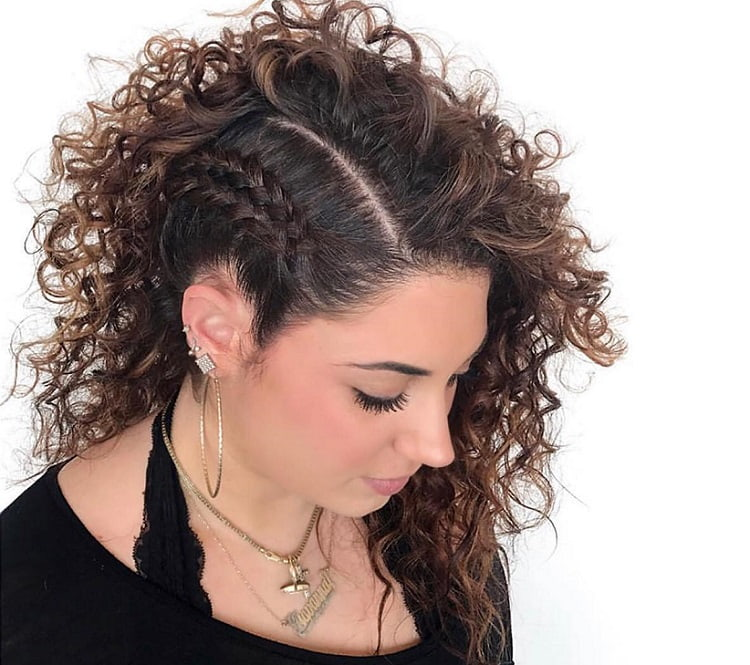 Braid Style for Medium Curly Hair