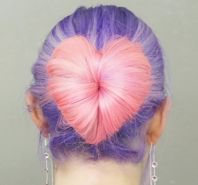 Heart-Shaped Sock Bun
