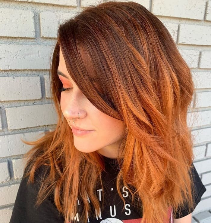Layered Lob for Long Face