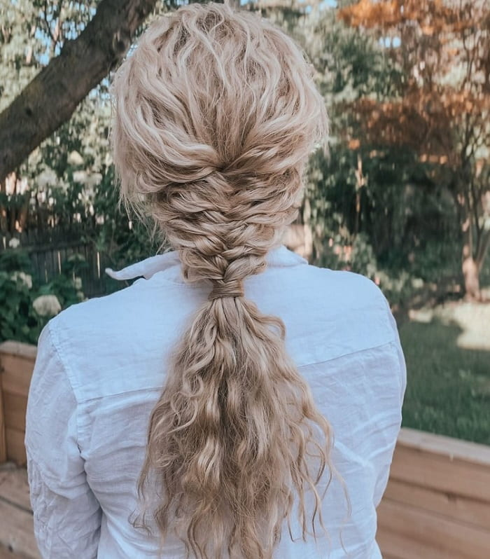 Blonde Curly Braid