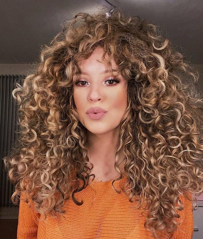 Blonde Curly Hair with Layers