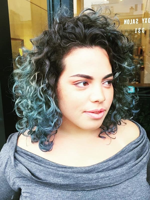 Curly Blue Ombre
