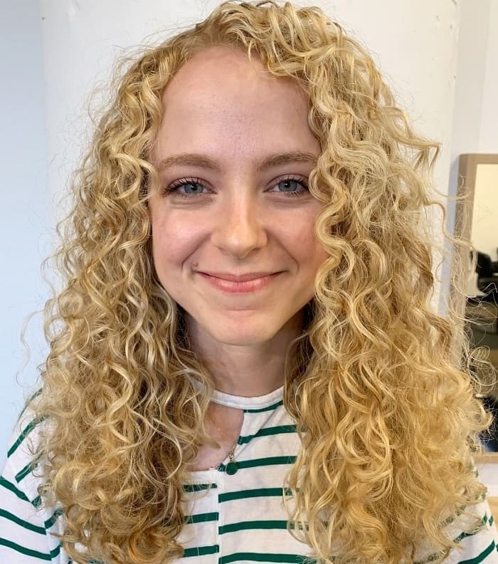 Thick and Curly Blonde Hair