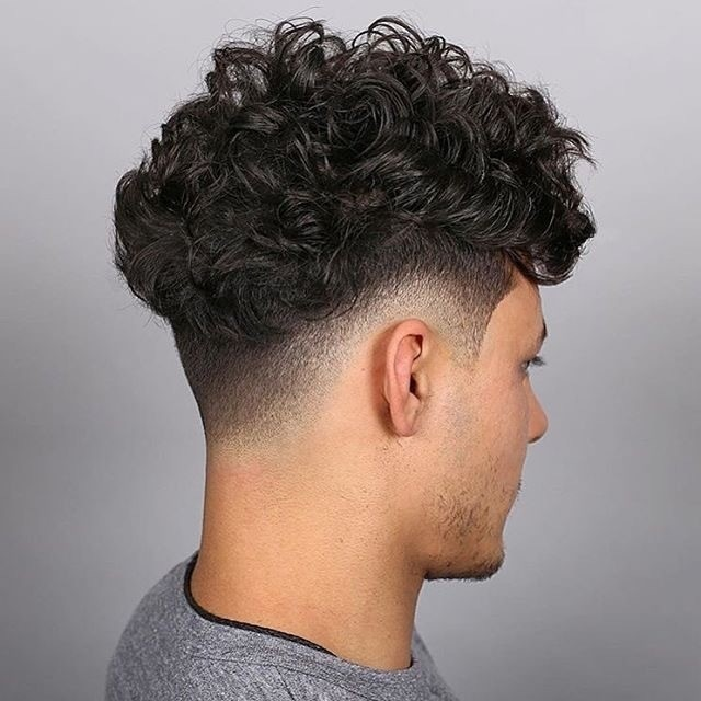Low Fade With Curls
