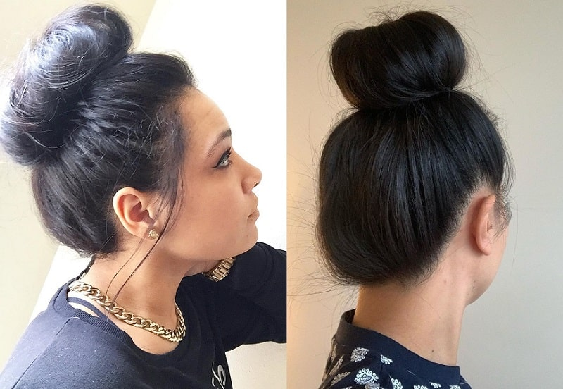 Sock Bun for Long Hair