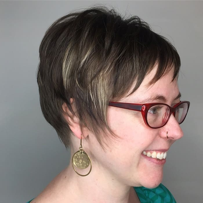Layered Pixie with Bangs