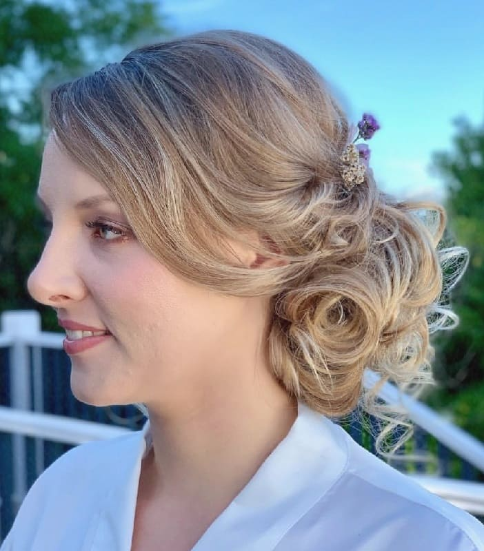 Side Bun Hairstyle for Bridesmaid