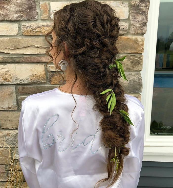 Braided Style for Thick Curly Hair
