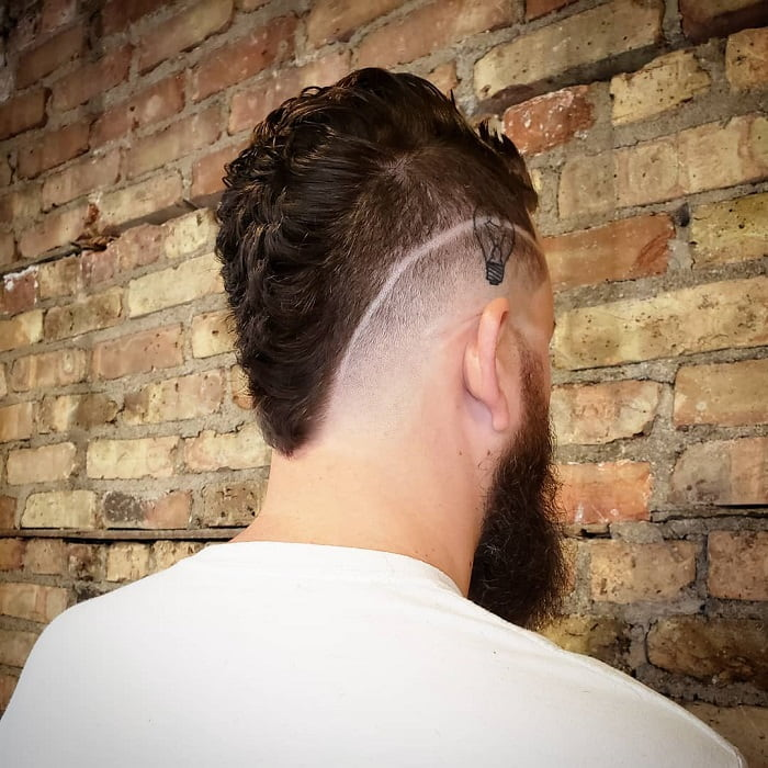 Thick Mohawk Fade