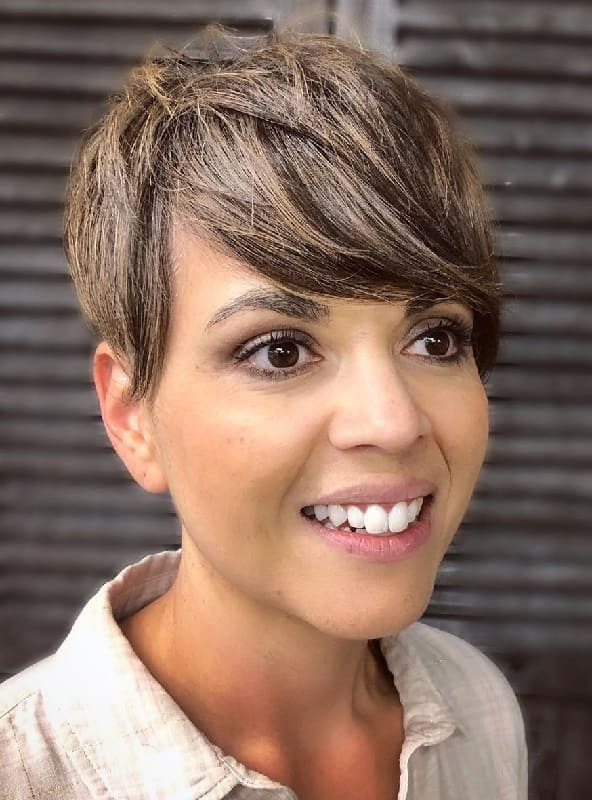 Pixie Cut with Bangs for Thick Hair