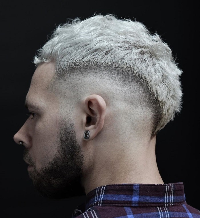 Platinum Mohawk with Fade