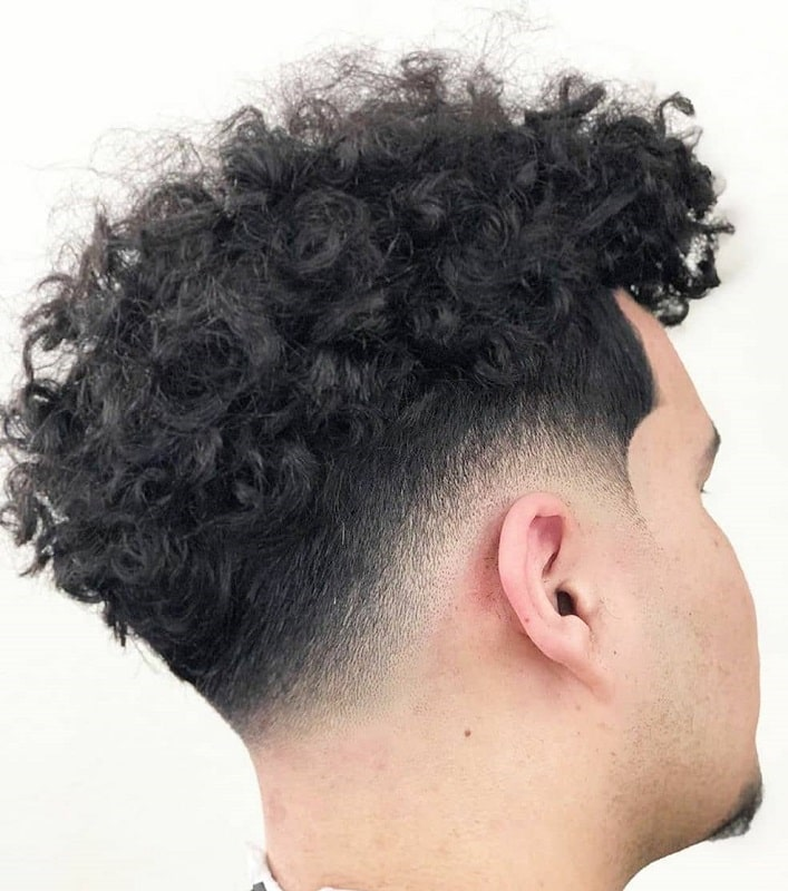 Curly Hair with Low Drop Fade