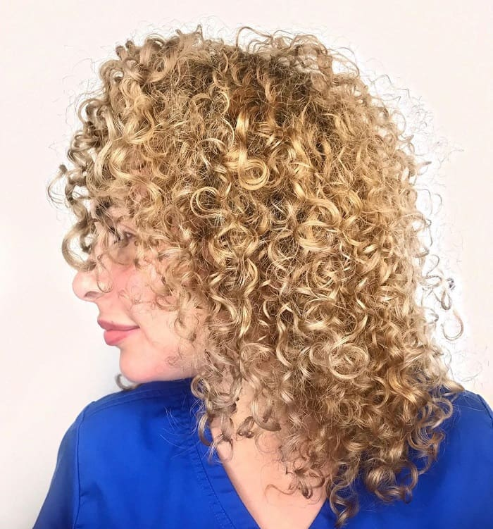 Medium Curly Blonde Hair
