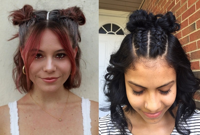 20 Ways To Style Space Bun Hairstyles In 2020 Styledope