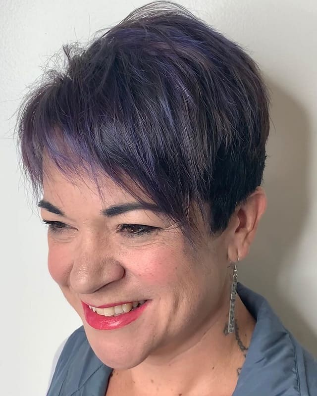 Thin Pixie Hair for Woman Over 50