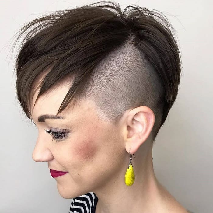 Asymmetrical Pixie With Undercut