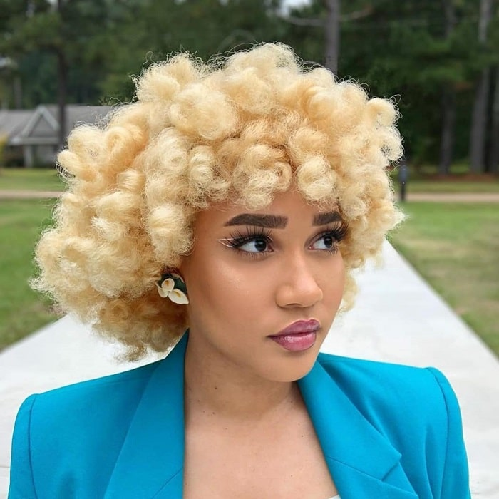 Curly Bob Weave with Bangs