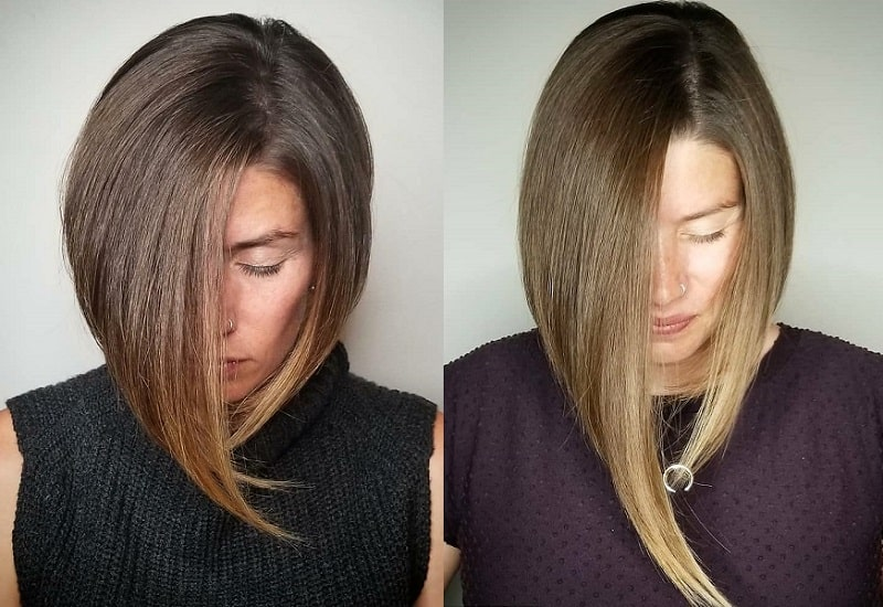 asymmetrical inverted bob