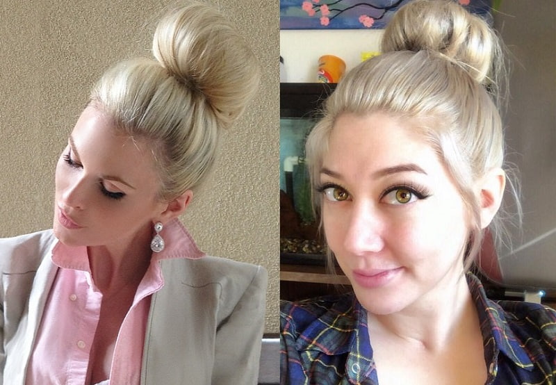 Blonde Sock Bun