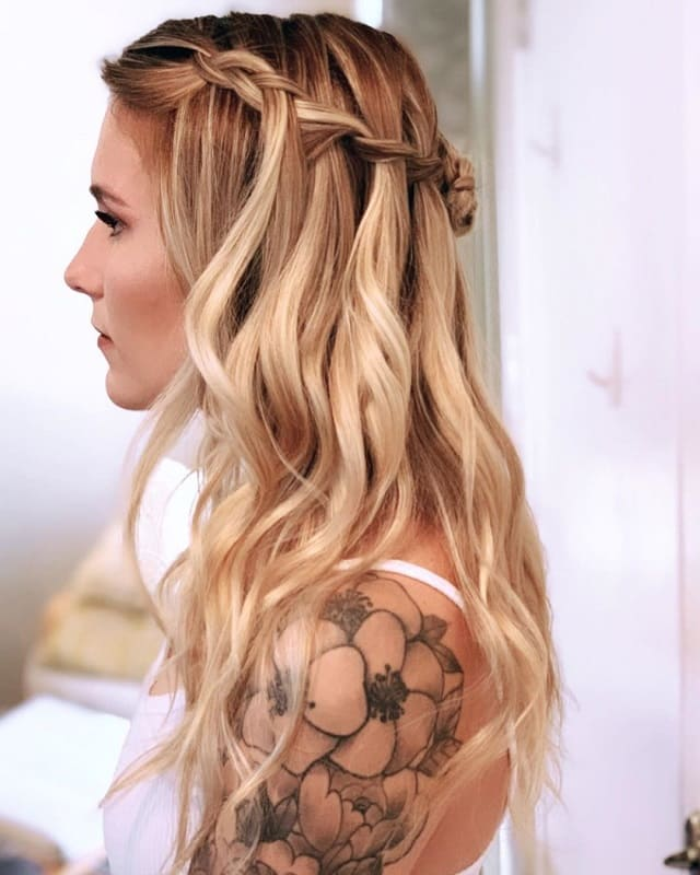 Braided Hairstyle for Wedding Guest