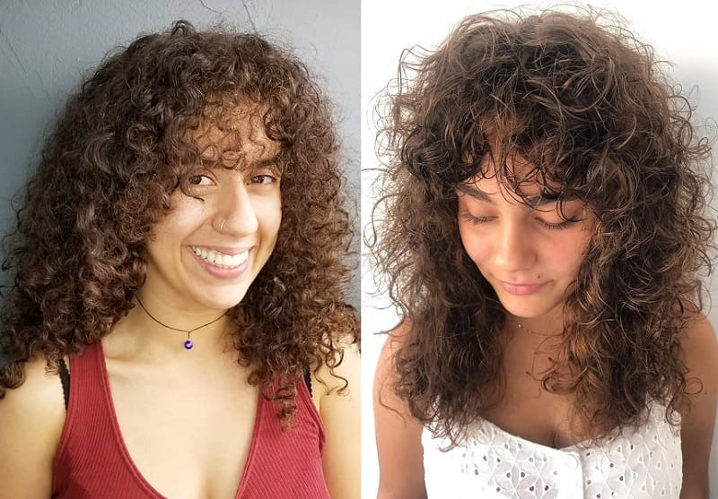 Curly Layered Hair