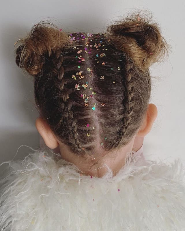 Little Girl with Braid for Wedding