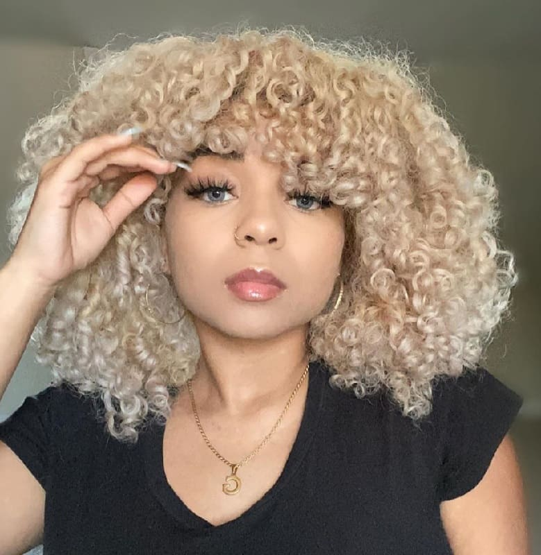 18 Best Short Blonde Hairstyles For Curly Hair Trending In 2020