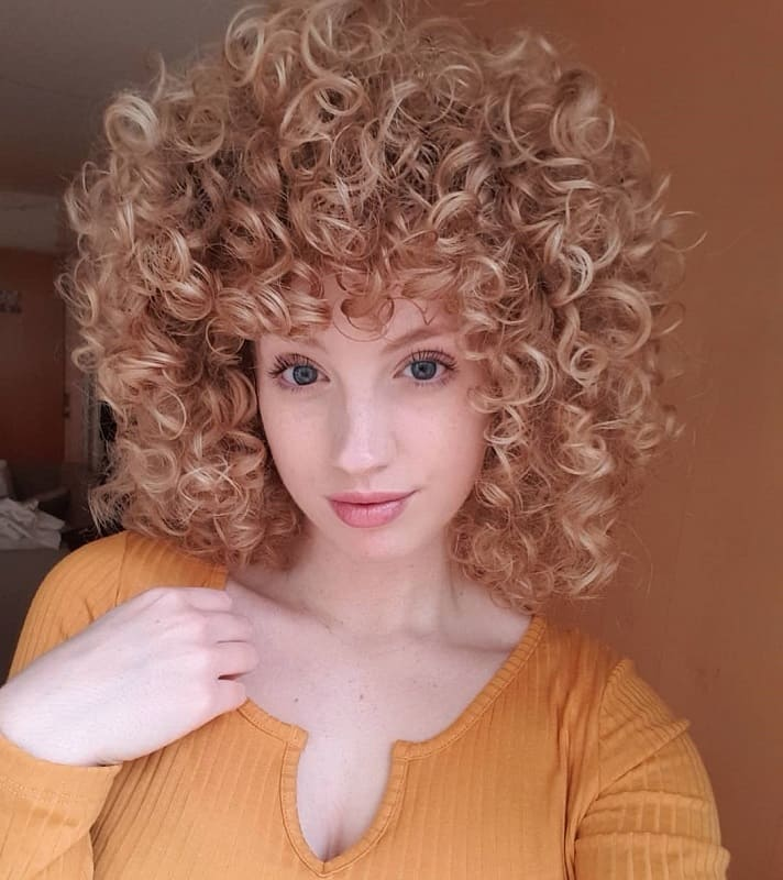 Short Curly Strawberry Blonde Hair