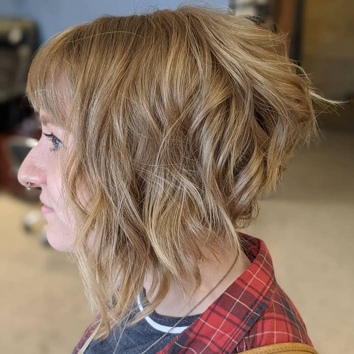 Angled Bob with Layers And Bangs