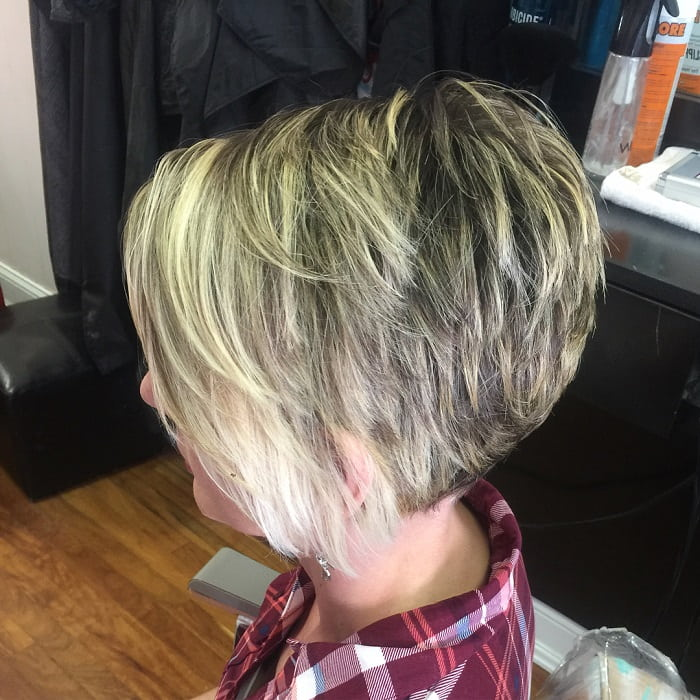 Asymmetrical Pixie with Highlights