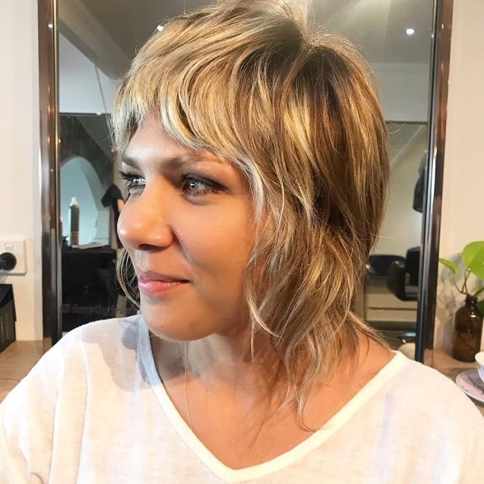 Layered Bob with Bangs for Women with Round Face
