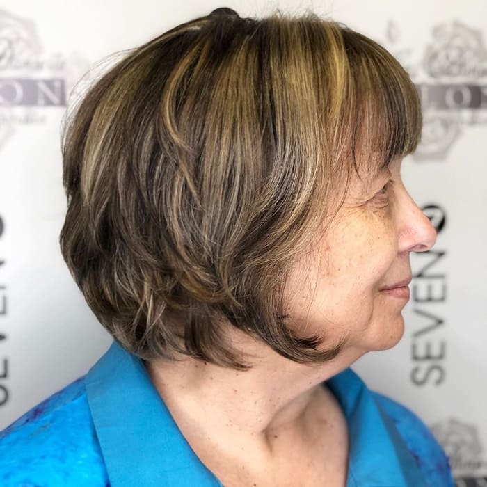 Layered Bob with Wispy Bangs