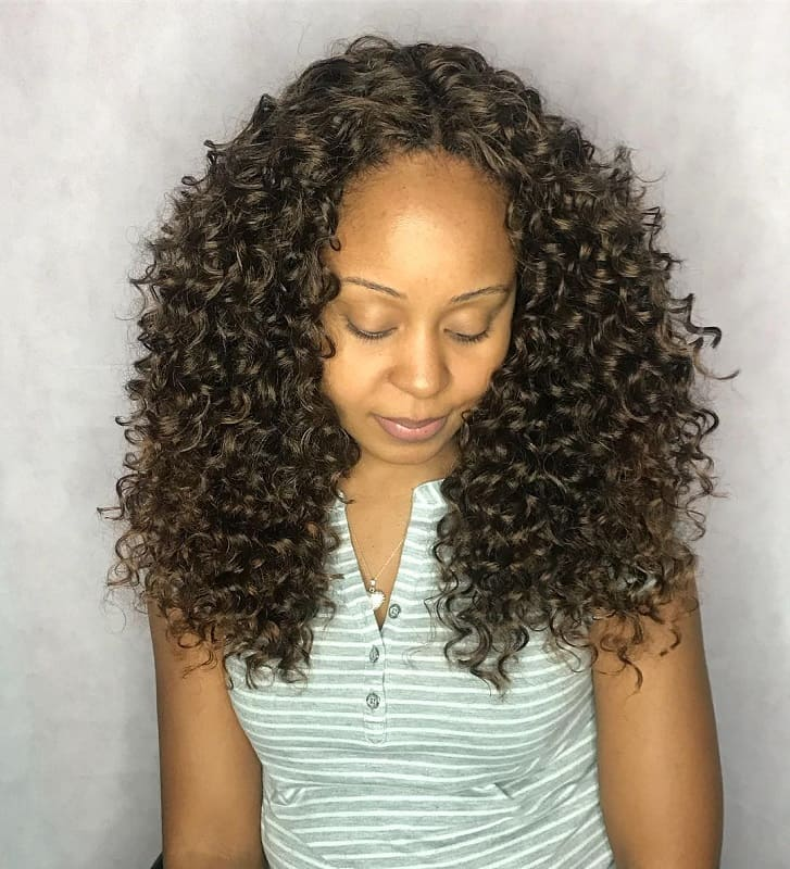 Middle Part Crochet Curly Hair
