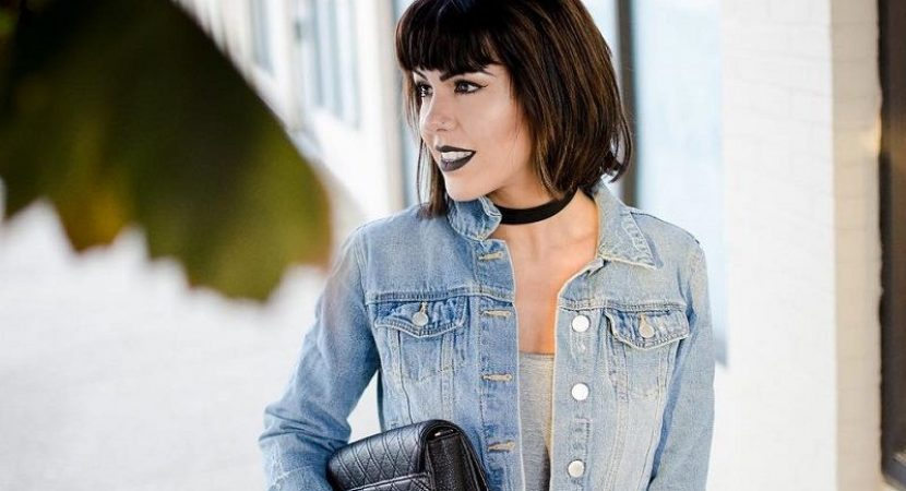 layered bob with bangs hairstyle